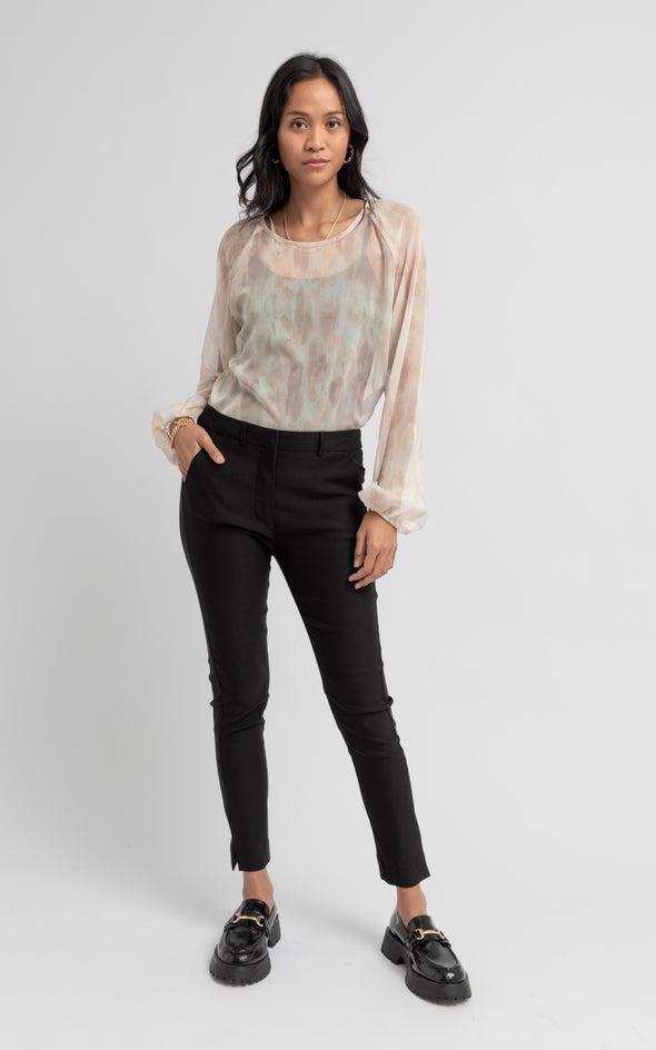 7/8 Beng Tailored Pant Black