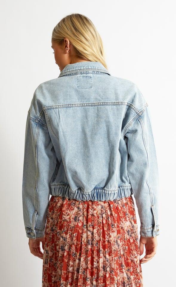 90's Slouch Denim Jacket Blue