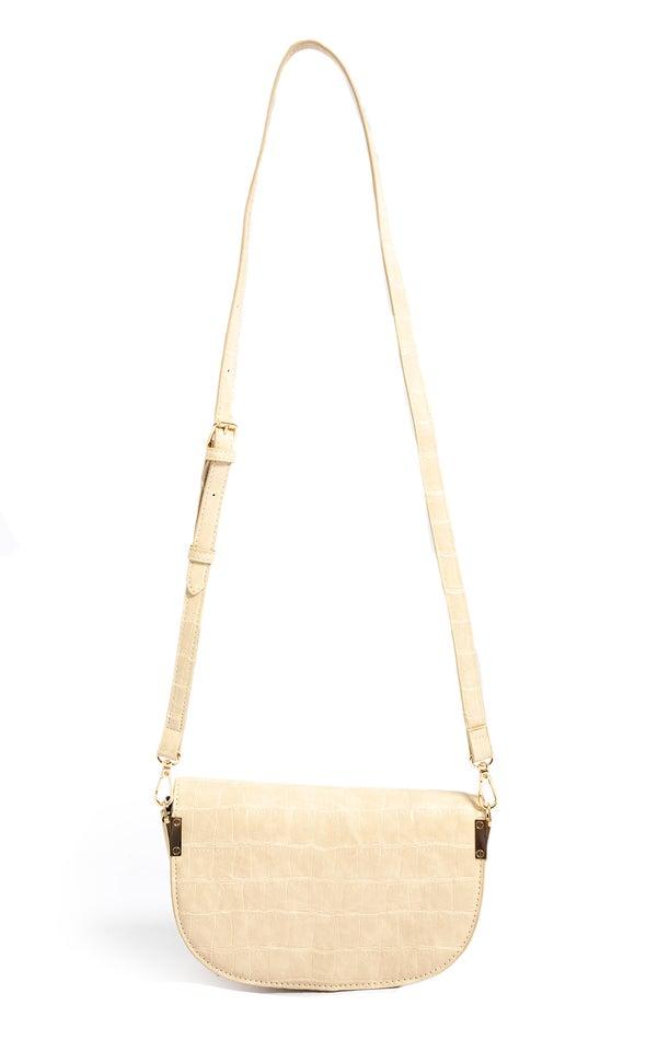 Asymmetric Tote Bag Almond Buff