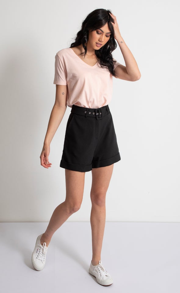 Belted Tailored Short