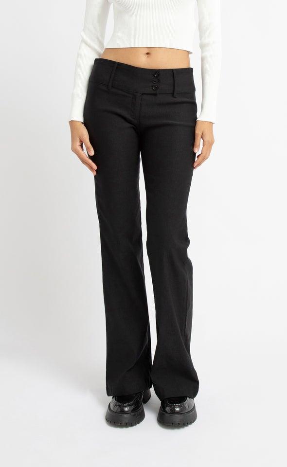 Bengaline 3 Button Boot Pant Black