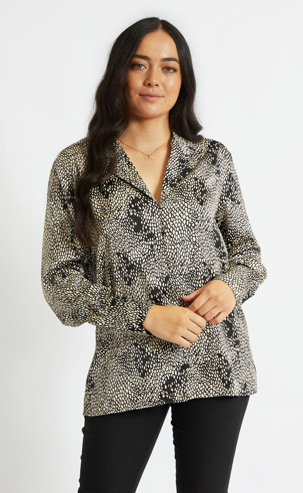 Burnout Printed Shirt