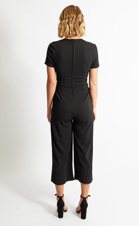 Cap Sleeve Jumpsuit Black