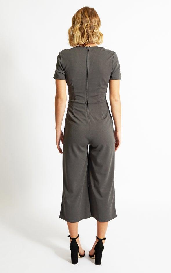 Cap Sleeve Jumpsuit Charcoal