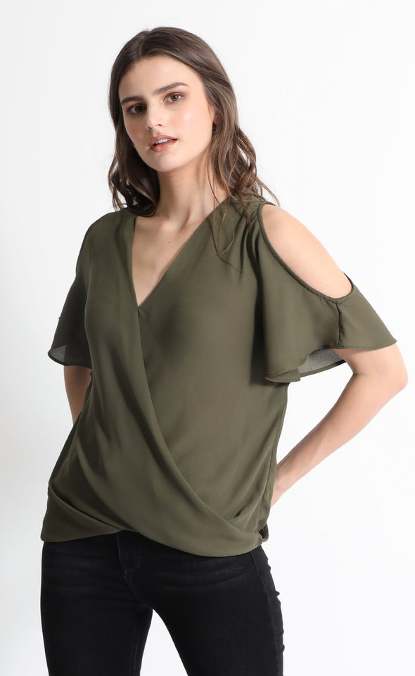 CDC Crossover Cold Shoulder Tee
