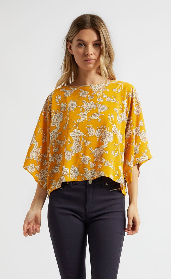 CDC Floral Batwing Top