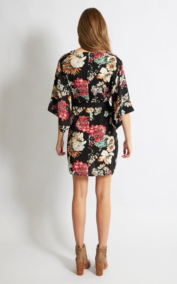 CDC Floral Kaftan Dress Black/floral
