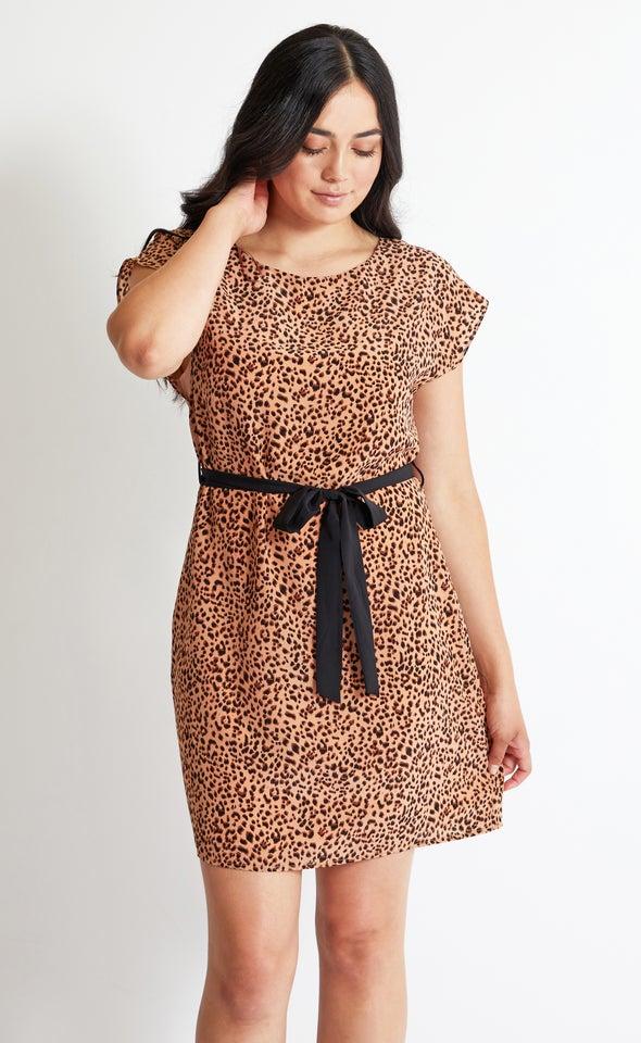 CDC Leopard Print Shift Dress