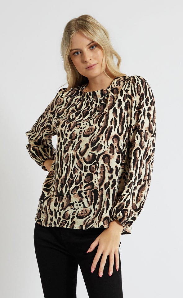 CDC Neck Band Detail LS Top