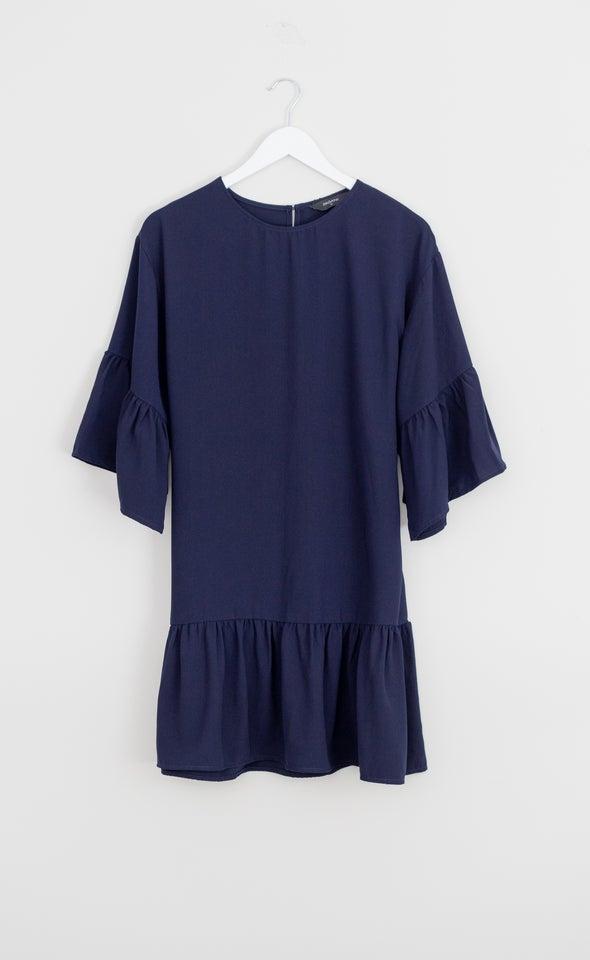 CDC Puff Sleeve Ruffle Dress