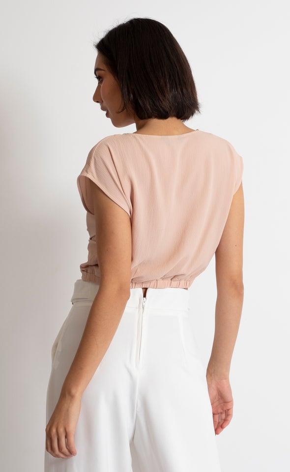 CDC Twist Detail Crop Top Blush