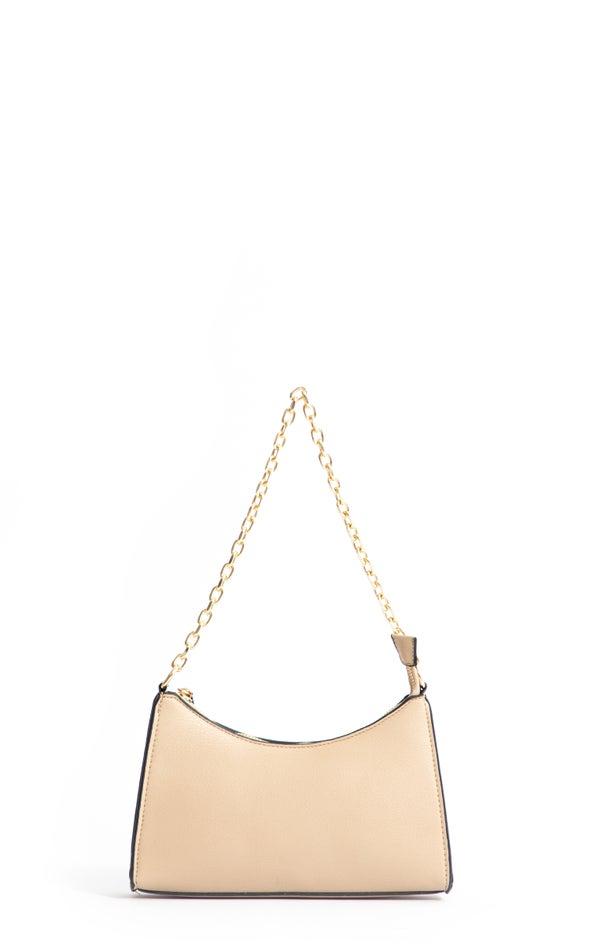 Chain Detail Handbag Beige