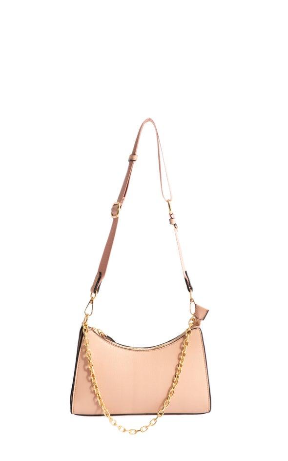 Chain Detail Handbag Blush