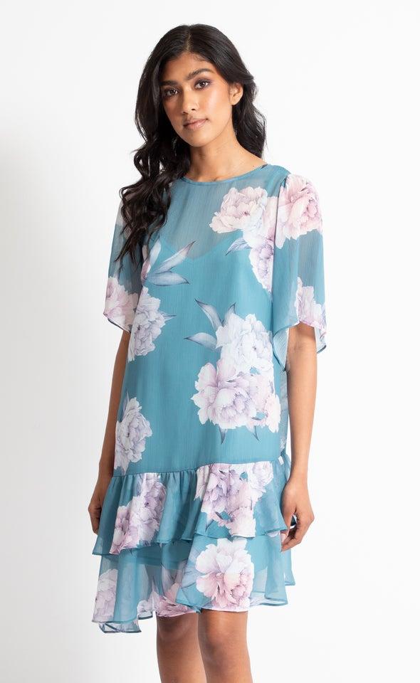 Chiffon Diagonal Hem T-Shirt Dress
