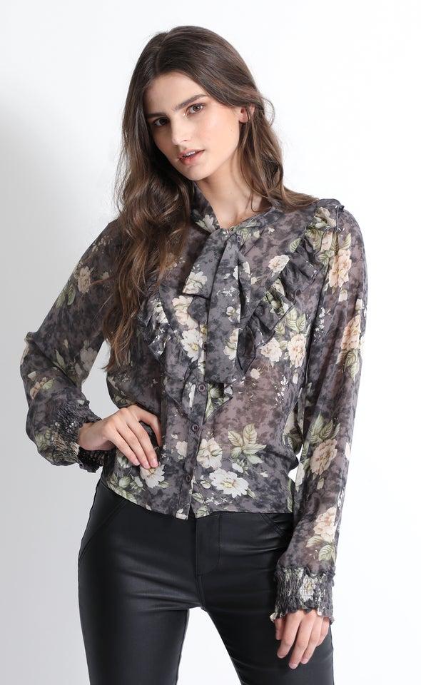 Chiffon Ruffle Shirt