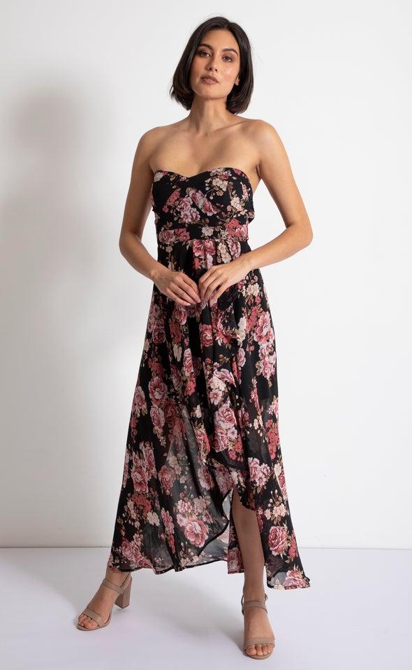 Chiffon Sweetheart Fishtail Dress