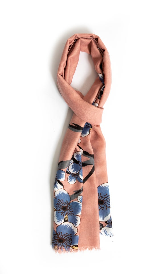 Contrast Floral Print Scarf