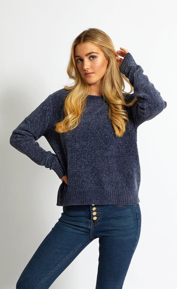 Crew Neck Chenille Sweater