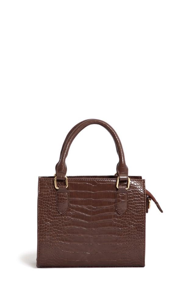 Croc Tote Bag Brown