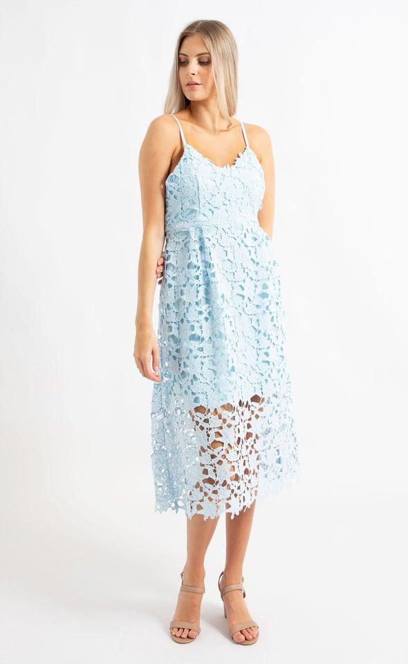 Crochet Lace A-Line Dress