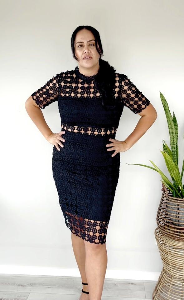 Crochet Lace T-Shirt Pencil Dress