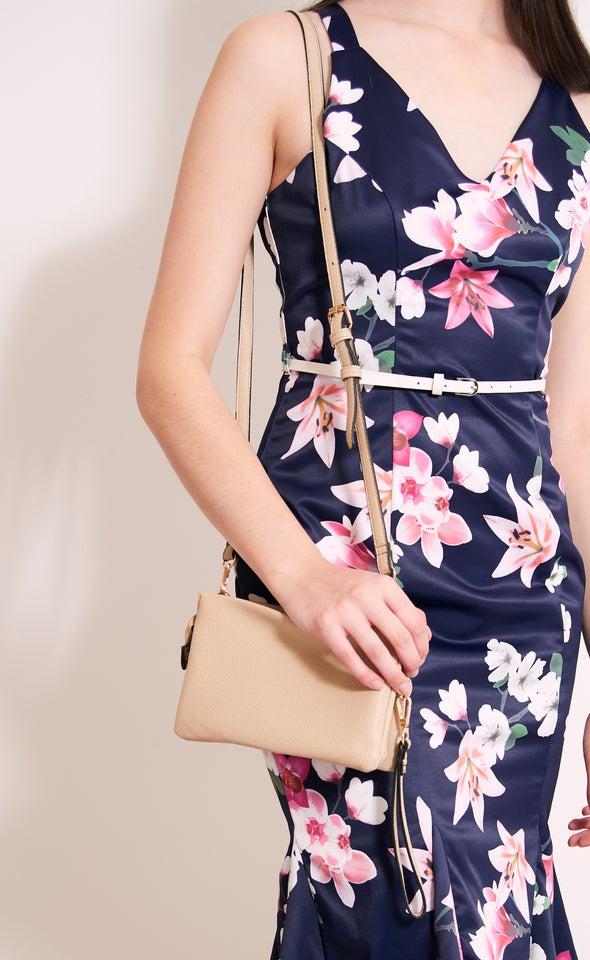 Cross Body Handbag Almond Buff