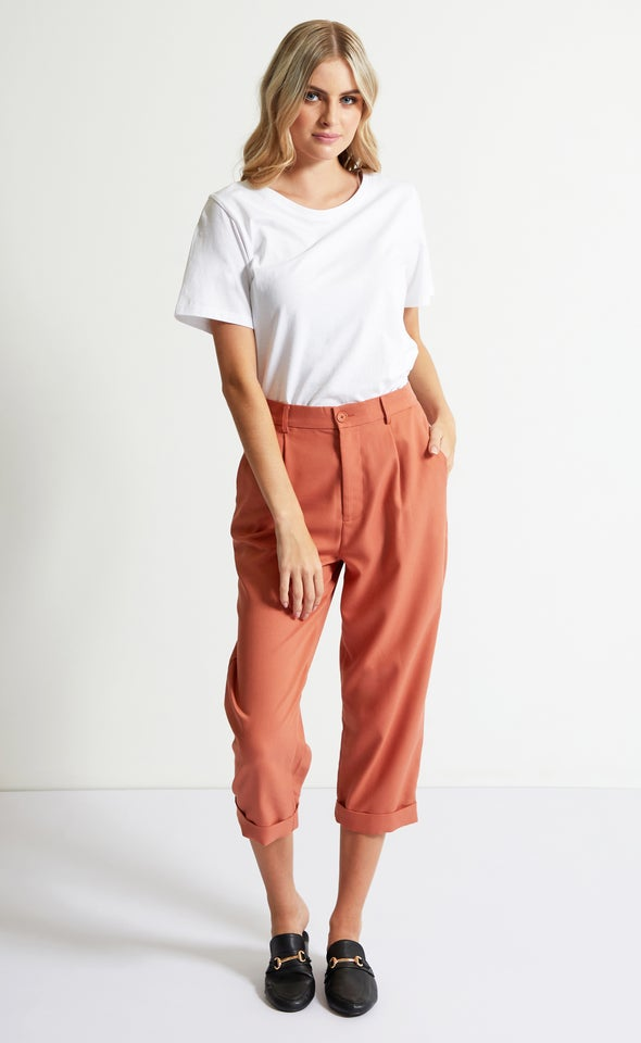 Cuffed Tailored Pants