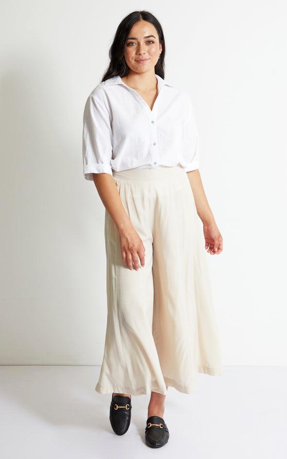 Culotte Style Pants Stone