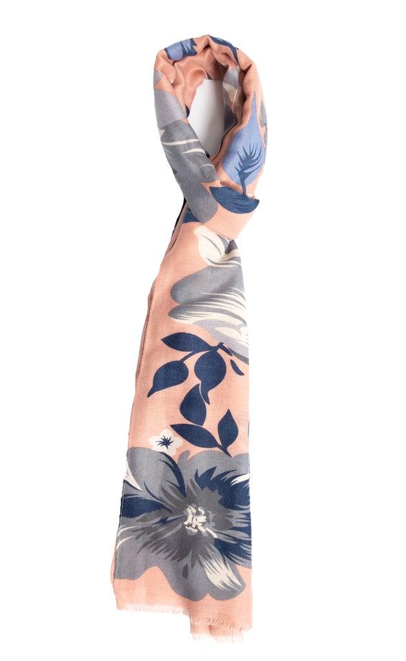 Floral Print Scarf Blush