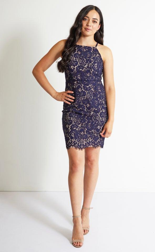 Floral Scallop Lace Dress