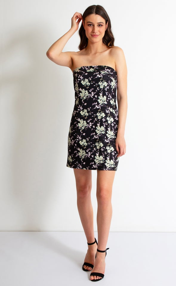 Floral Scuba Front Pocket Mini Dress