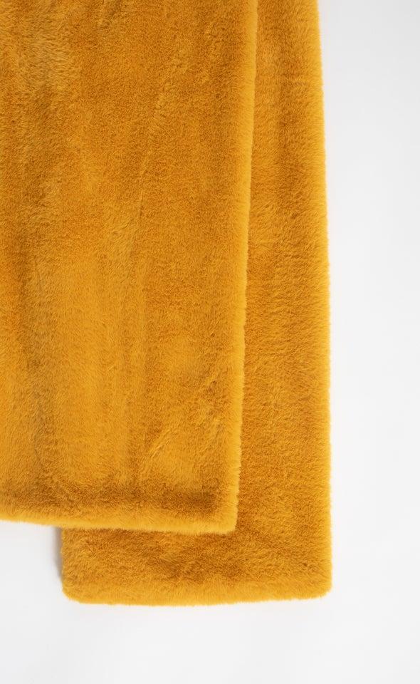 Fur Stole Mustard