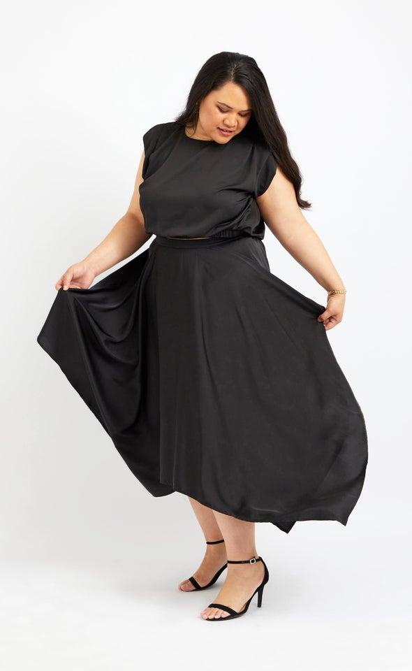 Handkerchief Hem Midi Skirt
