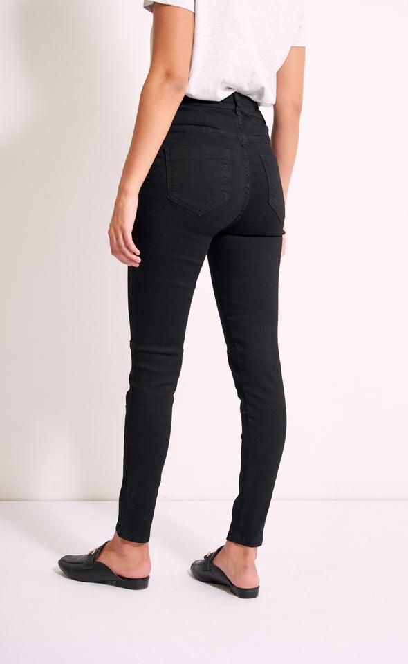High Rise Skinny Jeans Black