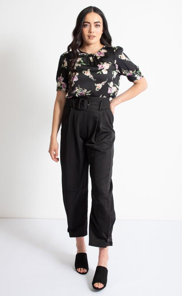 High Waist Tailored Pant Black