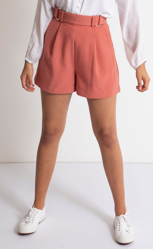 High Waist Tailored Shorts
