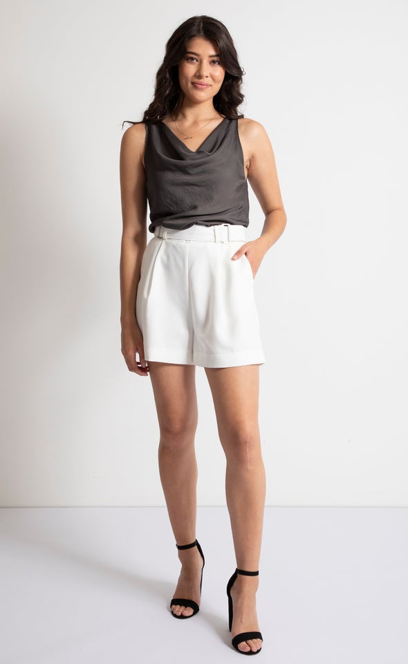 High Waist Tailored Shorts