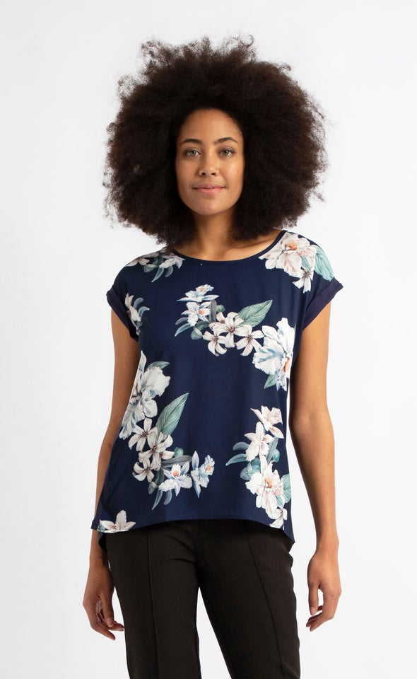 Jersey Back Floral Top