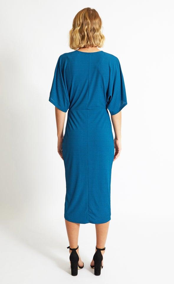 Jersey Kimono Sleeve Dress Emerald