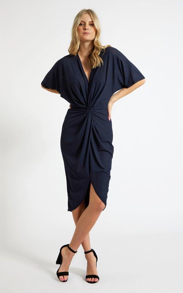 Jersey Kimono Sleeve Dress Navy