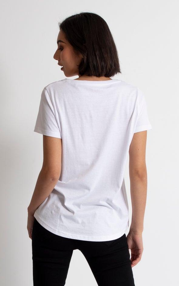 Jersey Logo Foil Print Tee White