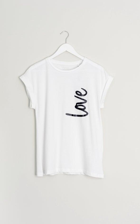 Jersey Love Print Tee White