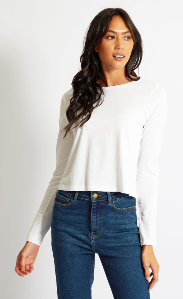 Jersey LS Cropped Tee