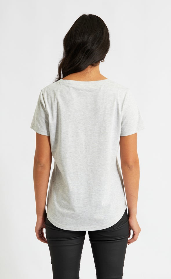 Jersey NY State Of Mind Tee Grey Marle