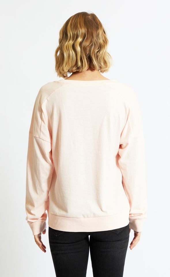 Jersey Oversize Slouch Tee Blush