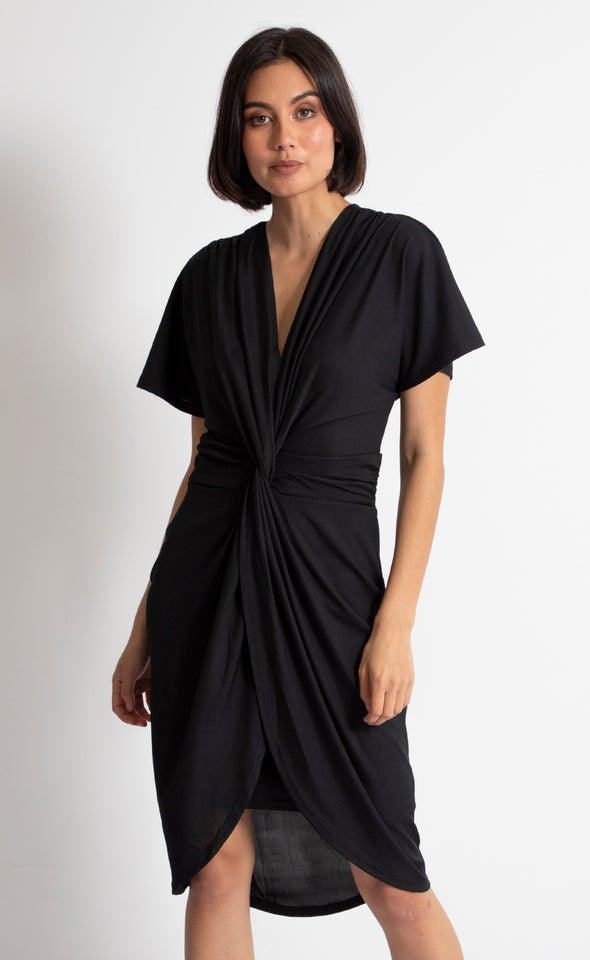 Jersey Twist Front Detail Dress