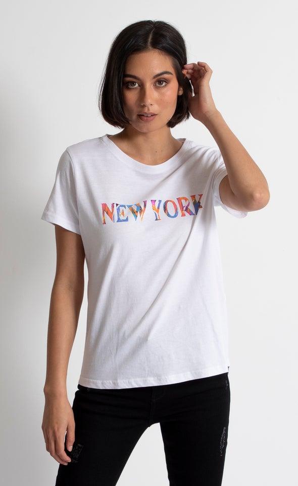 Jersey Watercolour New York Print Tee