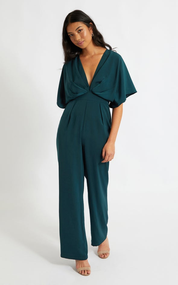 Kimono Sleeve Jumpsuit Emerald