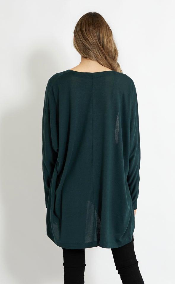 Knit Marle Kimono Emerald