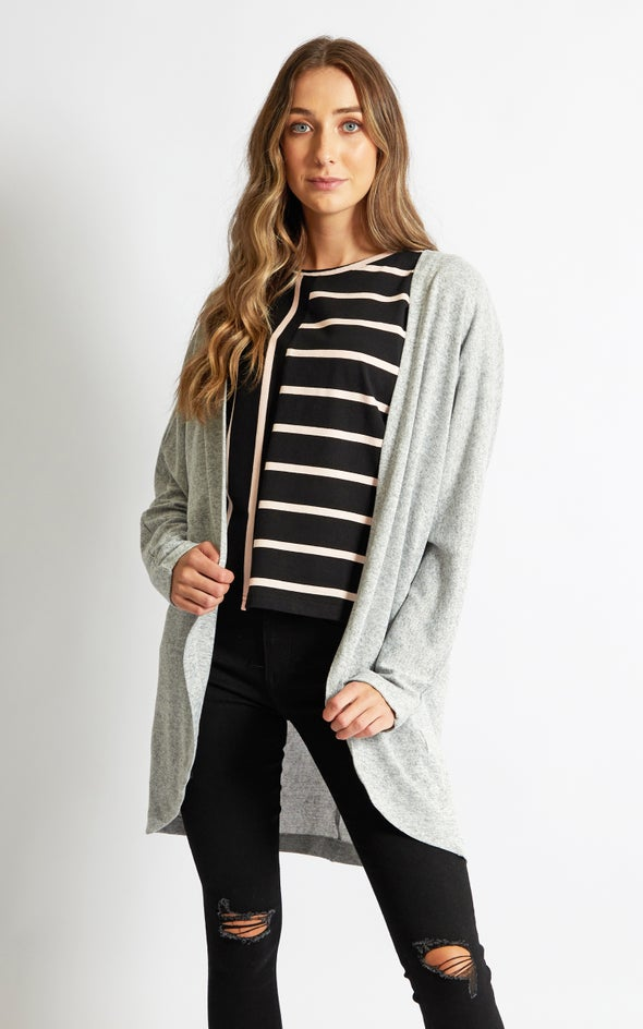 Knit Marle Kimono Grey Marle